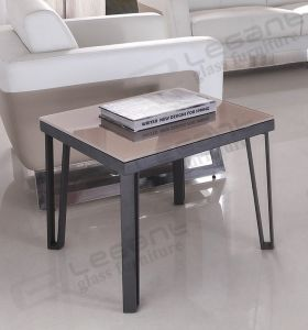 60X60 Durable Glass Top End Table with Metal Frame pictures & photos