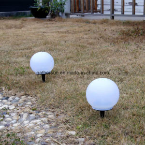 Solar Globe Lamp with Spike Lawn Garden Lighting pictures & photos