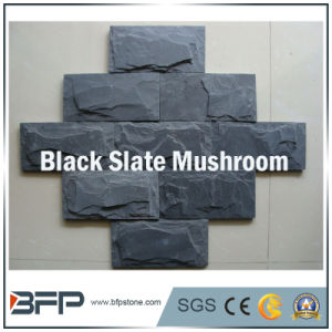 Natural Black Slate Stone Mushroom Tiles pictures & photos