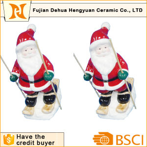 Ceramic Skiing Santa Clause for Christams Decoration pictures & photos
