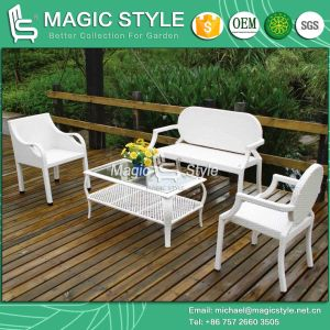 Simple Patio Sofa Set Rattan Sofa Set Synthetic Wicker Sofa Set (Magic Style) pictures & photos