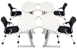 Folding Sectional Conference Table Sets, Metal Frame Office Desk (HD-02 combination) pictures & photos