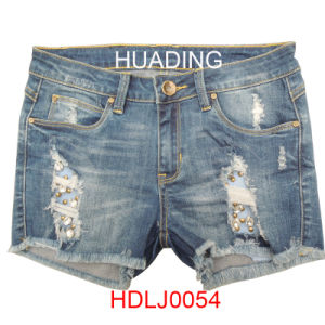 Fashion High Quality Sexy Jeans Women Skinny Denim Jeans (HDLJ0054) pictures & photos