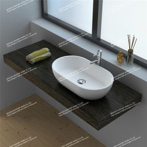 Modern Design Solid Surface Bathroom Mineral Casting Wash Basin/Sink (JZ9033)