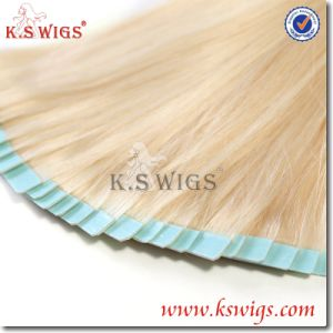 Wholesale Russian Remy Virgin Tape Hair Extension pictures & photos