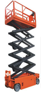 10m Automatic Mobile Scissor Aerial Working Platform Lift (ASE1012) pictures & photos