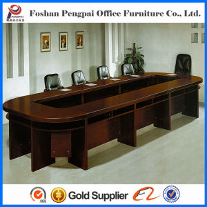 Horse Belly Oblong Wooden Meeting Table for Conference