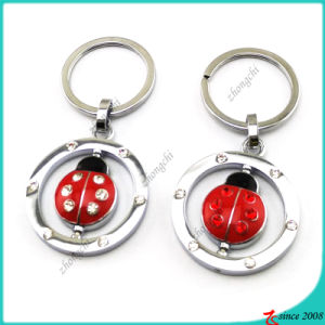 Red Metal Ladybird Key Chain for Kids (KR16041912)