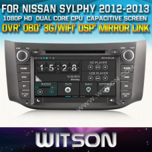 Witson Car DVD Player with GPS for Nissan Sylphy (W2-D8901N) Steering Wheel Control with Capacitive Screen CD Copy 3G WiFi RDS pictures & photos