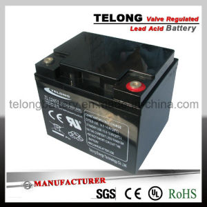 12V45ah Rechargeable Lead Acid Solar Gel Battery pictures & photos