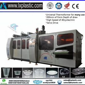 Ce Certificated Plastic Thermforming Machine for Disposable Cups (LX700) pictures & photos