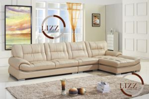 New Arrival Luxury Nubuck Leather Sofa Set L. P2807 pictures & photos