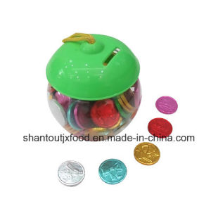 Apple Shape Plastic Bottle Coin Bubble Gum pictures & photos
