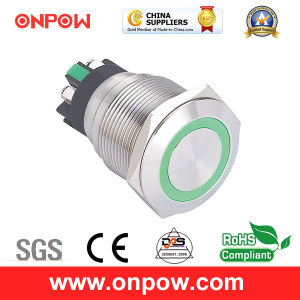 Onpow 22mm Push Button Switch (GQ22L-11E/B/6V/S, CE, CCC, RoHS) pictures & photos