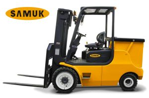 4-Wheel Electric Forklift 4.0-5.0ton pictures & photos