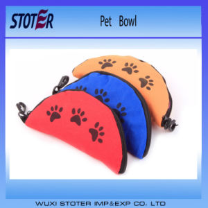 Portable Waterproof Travel Dog Bowl with Zipper