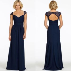 Navy Blue Mother of The Bride Dress Chiffon Bridesmaid Party Evening Dresses Z6006 pictures & photos