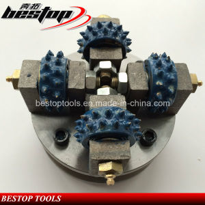 D150mm Diamond Bush Hammer Wheel for Granite and Marble Grinding pictures & photos