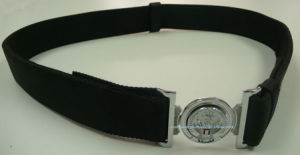 Black Military Belt with Tricolor Alloy Buckle pictures & photos