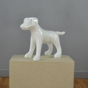 Shiny White Fiberglass Beagle Dog Mannequin for Store Display pictures & photos
