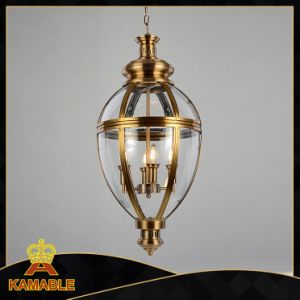 Copper Finished Glass Shade Hanging Lamp (KAM0118P-4) pictures & photos