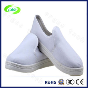 High Quality Purple PVC ESD Antistatic Canvas Safety Shoes (EGS-6037) pictures & photos
