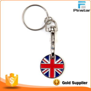 Promotional Custom Design Generic Union Jack Trolley Coin Keychain pictures & photos