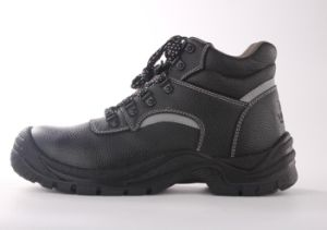 Black Leather Safety Shoes Sn1207 pictures & photos