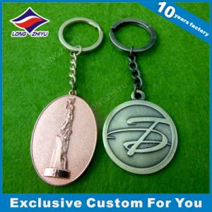 Coin Keychain Antique Silver Metal Keyring Manufacturer pictures & photos