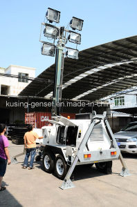 T1000 Series with 10kVA Y385 Mobile Light Tower Generator Set/Diesel Generator Set/Diesel Generating Set/Genset/Diesel Genset pictures & photos