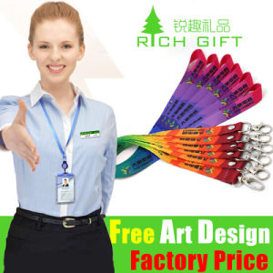 Factory Printing Price UK Cotton Full Shoulder Color Printing Lanyard pictures & photos