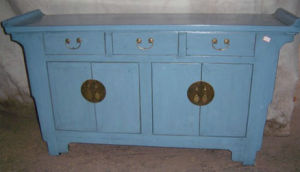 Chinese Antique Furniture Blue Wooden Buffet Lwc415-2 pictures & photos