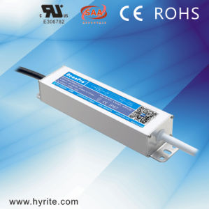 Slim Size & High Efficient 24V 30W IP67 LED Power Supply with Ce pictures & photos
