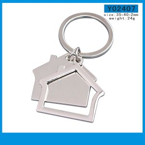 Factory Manufacturing House Blank Custom Logo Keyring (Y03792) pictures & photos