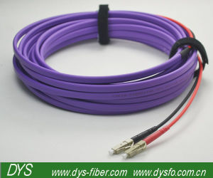 Om4 LC Duplex PVC / Lszh Jacket Fiber Optical Patch Cord pictures & photos