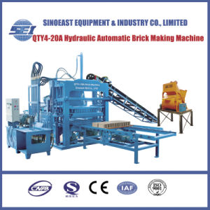 Hydraulic Automatic Concrete Brick Making Machine (QTY4-20A) pictures & photos