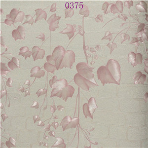 Embroidery Decorative Embossed Eco-Friendly Pink PVC Wallpaper pictures & photos