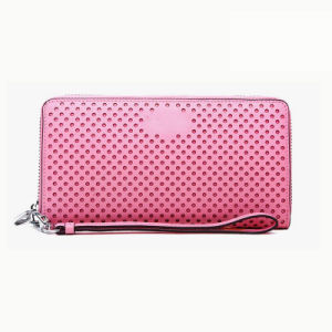Pink Wallet Case PU Leather Fashion Custom Brand Available Women′s Handbag Wzx1064 pictures & photos