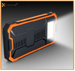 Hot Sale Travel Dual Output Mobile Solar Power Bank Charger with Bright LED Light 8000mAh