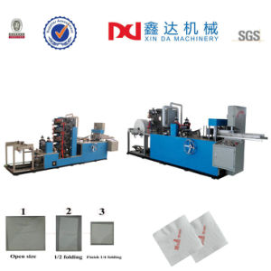 Automatic Embossing Napkin Machine Printing Folding Tissue Paper Serviette Making Machine pictures & photos