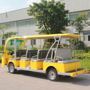 CE Certificate 14 Seater Electric Shuttle Bus for Sale (DN-14) pictures & photos