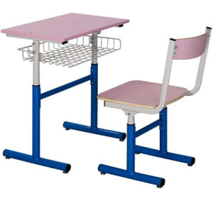 Chinese Classroom Single Desk and Chair School Furniture (FS-3210B) pictures & photos