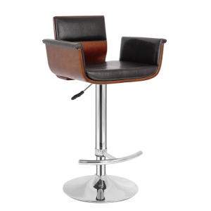 Restaurant Dining Coffee Furniture Swivel Wooden Bar Stools Chair (FS-WB996) pictures & photos