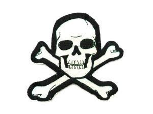 Custom Skull Blank Kids Iron on Patches pictures & photos