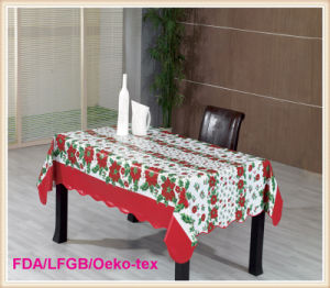 PVC/Vinyl Table Cover with Christmas Designs pictures & photos
