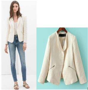 High Quality 2015 Elegant Winter Blazer for Office Women pictures & photos