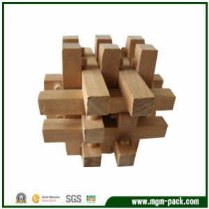 Durable Brown Intelligent Wooden Lock Toy for Kids pictures & photos