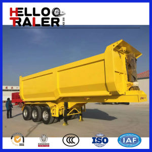 Tri Axle 30 Ton Hydraulic Cylinder End Dump Trailer pictures & photos