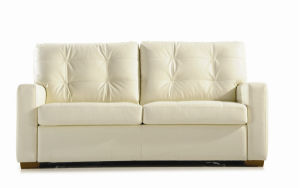Leather Fold Sofa Bed pictures & photos