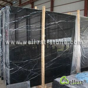 Nero Marquina/Black Marquina/China Marquina Marble Slab pictures & photos